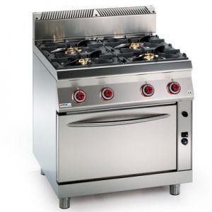 Cocina 4 fuegos con horno gas grupo granita for Cocina 4 fuegos con horno a gas