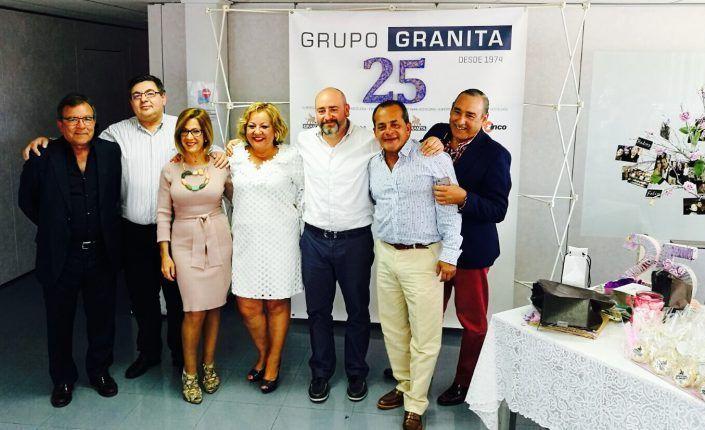 Homenaje a 4 empleados por sus 25 años en Grupo Granita