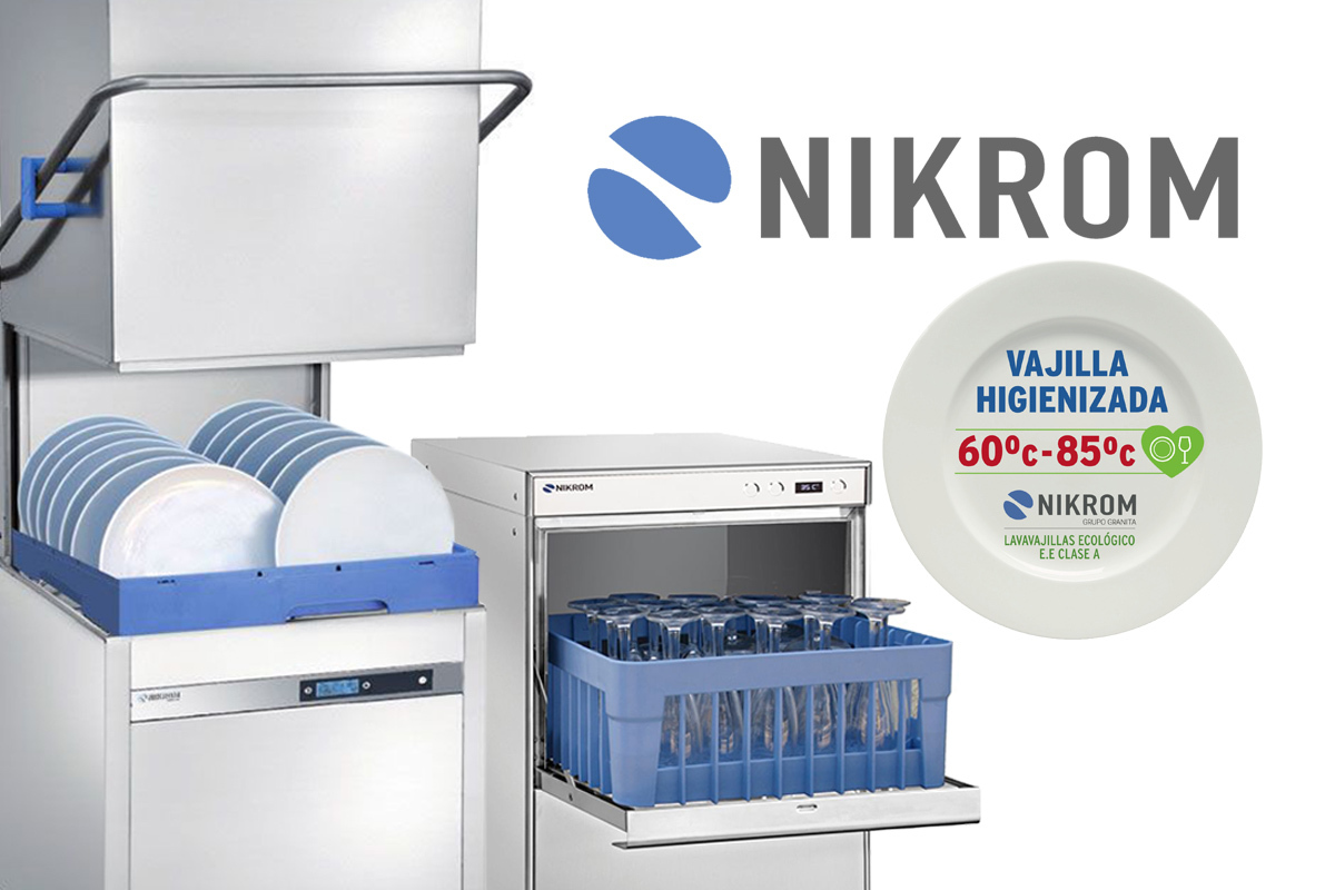 nikrom - lavavajillas industrial - vajilla higienizada - grupo granita